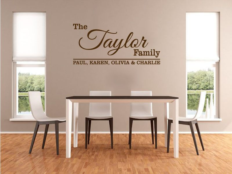 personalised name wall stickers uk